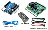 #1: Arduino Starter kit - Arduino uno R3 ATmega328P board with Digital & Analog Arduino Startup board,38KHz NEC IR remote control,CR2025 battery,Male to Female 30cm long connecting wire,Arduino prototype board,Arduino learning board