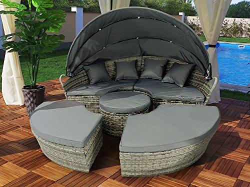 93 liegeinsel wohnzimmer rattan sonneninsel aus. Black Bedroom Furniture Sets. Home Design Ideas