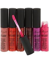 MagiDeal Set de 6 Couleurs Waterproof Rouge à lèvres Mat Métallique Liquide Hydratant Longue Durée Gloss Maquillage...
