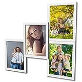 404 Fotogalerie für 4 Fotos 13x18 cm - 3D Optik - Bilderrahmen Bildergalerie Fotocollage Rahmenfarbe Weiß