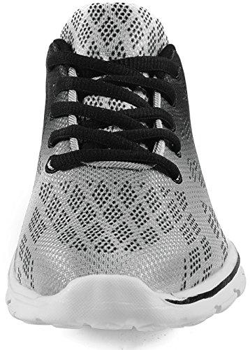 QANSI Scarpe da corsa Uomo Scarpe Da Sportive Running Basket Sneakers Nero Grigio Blu Rosso Grigio