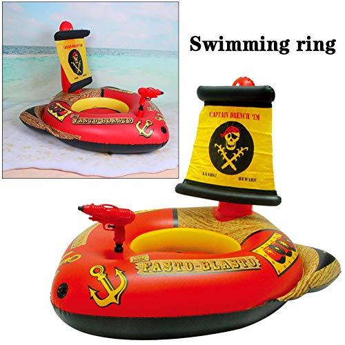 Haodene piscina galleggiante gonfiabile anello piscina piscina letto galleggiante pistola ad acqua pirata gommone multiuso reclinabile beach toy per adulti e bambini