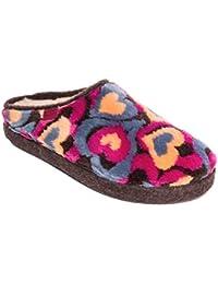 Moda Nuevo estilo Dibujos animados Algodón Zapatillas Otoño Invierno Antideslizante Heel de la cubierta Zapatillas Casa Algodón Zapatos para amantes 6 Colores (EU 42, Gris)