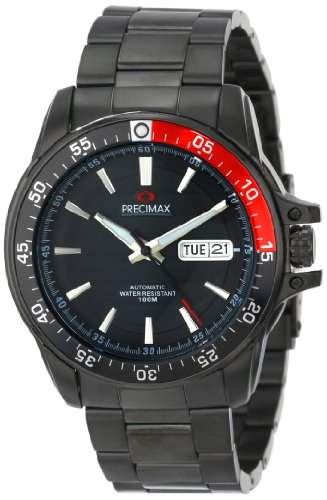 precimax-herren-px13200-propel-automatic-black-dial-silver-stainless-steel-band-armbanduhr