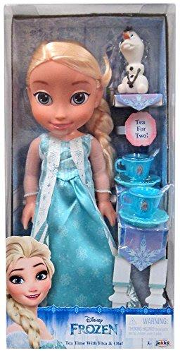 Disney Frozen Princesa Elsa 35 cm y Olaf con set de Té para dos