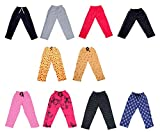 #4: Indistar Premium Cotton Lower/Trackpants/Pajama for Girls (Pack of 5 Assorted Colors)