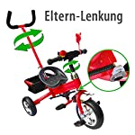 M&G Techno Children Kids Kiddo Tricycle Bicycle Trike 3 Wheel Bike from 2 years - Power steering Foam rubber - with Parent Handle