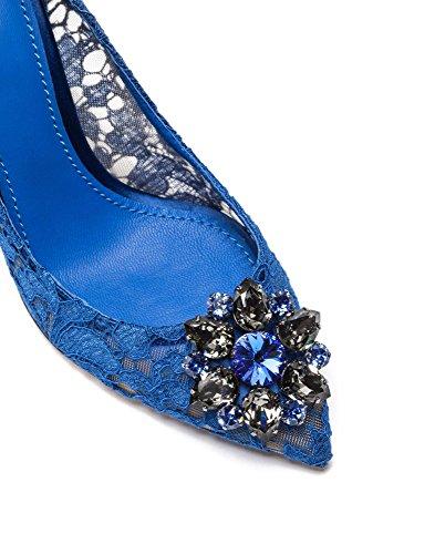 uBeauty Slip Blau Luxus High Heels Damen Spitze Hell Sandalen Pumps Spitzen On Zehen Hochzeitsschuhe Stilettos rn6rPWCq