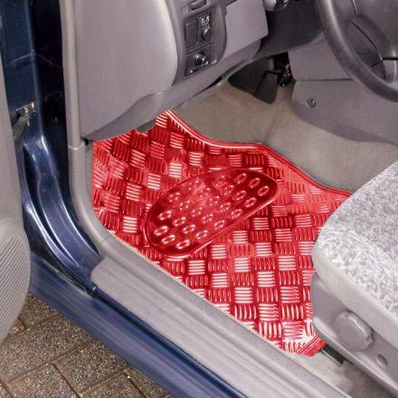 eSituro Funda de Asiento de Coche Universal Set de Fundas de Asiento para autom/óvil con Mariposa Negro Rojo SCSC0052