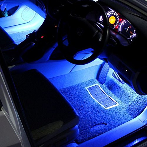 Led Per Auto Interni.Justech Car Led Strip Lights 4pcs 36leds Multicolor Music Car Interior Atmosphere Lights