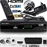 Strom 505 - TNT HD Decodeur TNT HD Pour TV / Recepteur TNT HD / Adaptateur TNT Décodeur TNT / Boitier TNT HD / Tuner TNT Decodeur TV Demodulateur TNT Decodeurs TNT Full HDMI Terrestre Parabole, Noir