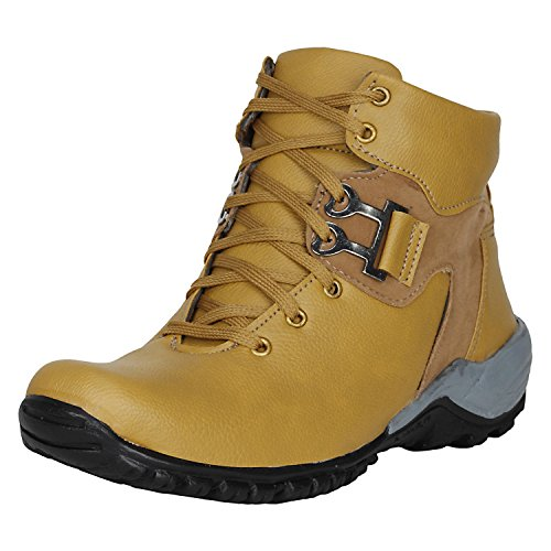 Kraasa Men's Tan Synthetic Boot -8