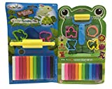 #10: SLYTEK (Combo Pack) 12 Colors Modelling Clay with Small Roller & 4 Moulds + 12 Colors Modeling Clay with Velan & 3 Moulds for Kids/Teens Children - non-toxic