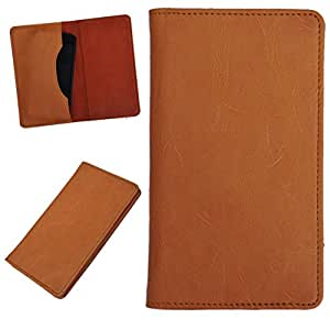 DCR Pu Leather case cover for HTC 8XT (orange)