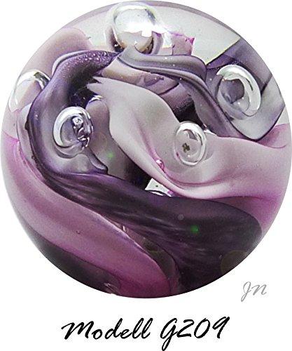 Traumkugel- Briefbeschwerer groß: Motiv rosa/lila Skulptur - Handarbeit