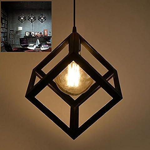 Pendelleuchte Vintage Edison Eisen Retro Lampenschirm Loft Kreative Kronleuchter Metall Deckenbeleuchtung / Hängeleuchte mit E27 (Kronleuchter Mit Lampenschirm)