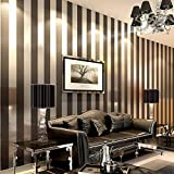 Fond D'écran Noir Et Blanc Curry Bleu Blanc Rayé Non-tissé Moderne Simple Salon Chambre Cuisine Tv Fond Mur Hôtel Wallpaper 53cm * 10m/roll B