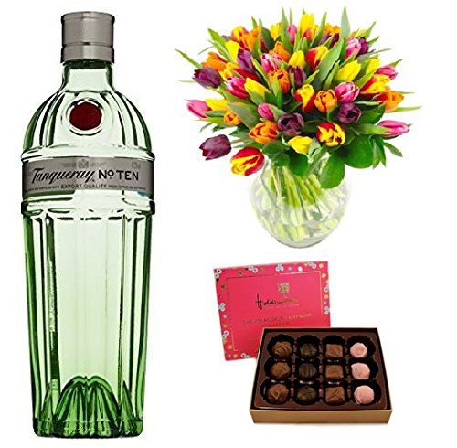 tanqueray-no-ten-gin-clare-florist-tulip-bouquet-and-holdsworth-marc-de-champagne-truffles-and-cream