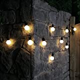 Outdoor Frosted Festoons - Battery Powered - Timer - 4.5m - Warm White LEDs by Festive Lights