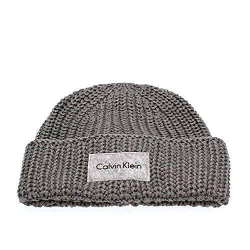 Calvin Klein Jeans Herren Strickmütze Ingmar Hat, Grau (Steel Grey 002), One Size (Tuch, Jeans Denim Herren)
