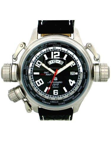 Aeromatic 1912 A1298 Aeromatic A1298 - Reloj , correa de cuero color negro