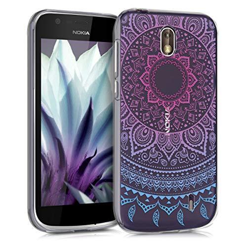 kwmobile Nokia 1 Hülle - Handyhülle für Nokia 1 - Handy Case in Blau Pink Transparent