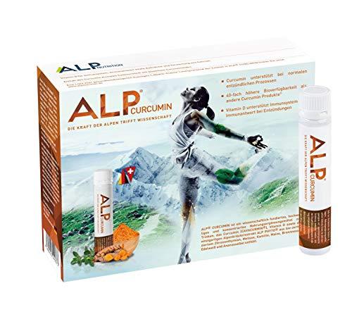 ALP NUTRITION, ALP CURCUMIN Trinkampullen 14×25 ml Kurkuma Flüssig Liquid Vitamin D Turmeric Curcumin Supplement