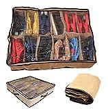 Schuhe Organizer Box–platzsparend unter Bett Speicher für 12Paar Schuhe