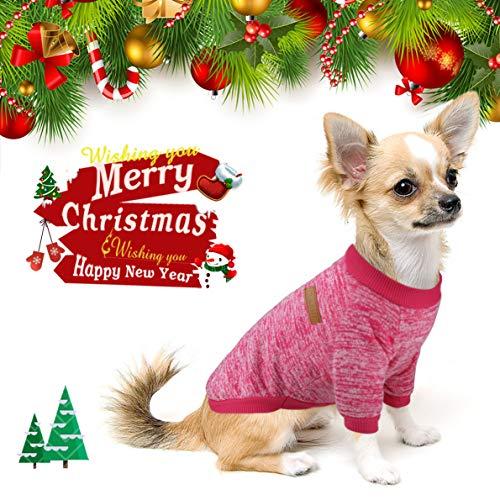 Idepet - Sueter para mascota, gato o perro, forro polar para cachorro small rosa (b)