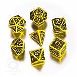 Celtic 3D Dice Yellow/Black (7)