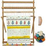 "Sailunte Weaving Loom Beech Wood Creative DIY Weaving Art 25""H x 20""W (Approx.) Extra-Large Frame, Develops Creativity Weavin"