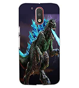 ColourCraft Godzila Design Back Case Cover for MOTOROLA MOTO G4