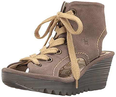 FLY London Yaba702, Sandales Bout Ouvert Femme, Beige (Taupe 004), 37 EU