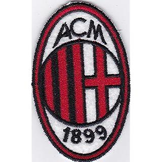 A.C.-Aufnäher Milan Replica Club Football Scudetto 4,5 x 7 cm großer, bestickter Aufnäher-1003 Replica