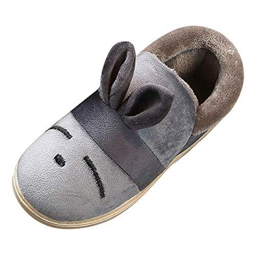 Jaysis Baby Jungen und Mädchen Schnüren Sneaker Ballerinas Flaum Warm Haarige Kugel Klassisch, Hasenohren Flaum Kleinkind Mode Winter Warme Schuhe Kaninchen-Haar Dicker Schnee Mit