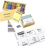 Montessori-Material Zahlenraum bis 10 incl. Rechenstäbchen u. 100 Aufgabenkarten mit Selbstkontrolle