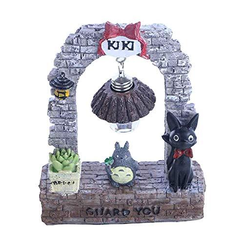 ZSTCO Totoro Figur, niedlich Studio Ghibli Miyazaki Mein Nachbar Totoro Figur mit Nachtlampe Licht Action Figure Spielzeug für Kinder Geschenk für Hausgarten - Totoro Kostüm Niedlich