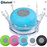 #7: higadgetTM Water Proof Bluetooth Shower Speaker With Mic Wireless Stereo Shower Speakers Portable Waterproof Bluetooth Wireless Stereo Shower Speakers, - Best for Bath, Pool, Car, Beach, Indoor/Outdoor Use (Multi colors )
