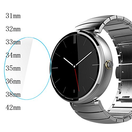 Zhuhaixmy 9H HD LCD Guard Shield Film Tempered Glass Screen Protector for 35mm Circular Smart Watch Lcd Screen Guard Protector