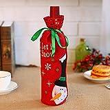 niceEshop(TM) Weihnachten Weinflasche Tasche, Schneemann und Weihnachtsmann Weinflasche Geschenkpapier Weihnachten Tisch Wein Dekor