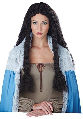 Peluca de princesa vikinga para mujer