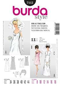 Burda B7112 Patron de Couture Robe de Mariée 19 x 13 cm