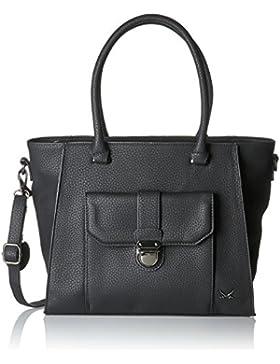 Sansibar Damen Shopper Bag Henkeltasche, Schwarz (Black), 16 x 29 x 33 cm