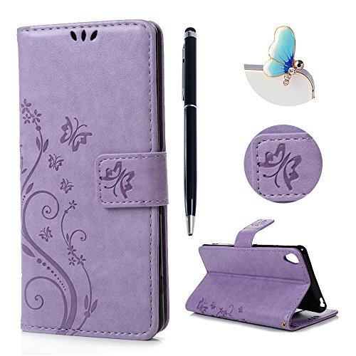sony-xperia-xa-case-cover-lanveni-premium-pu-leather-wallet-flip-cover-bookstyle-magnetic-closure-bu