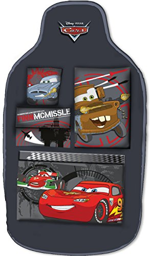 Disney 25903 Cars - Organizador para asiento con 5 bolsillos, color negro
