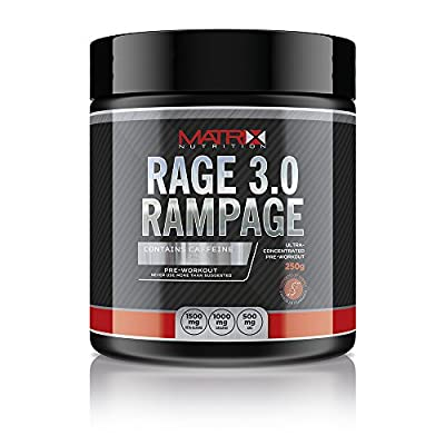 Matrix Nutrition Rage 3.0 Rampage Pre Workout - Massive Powerful Workout Energy Stimulant - 50 Servings from Matrix Nutrition