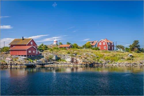 Posterlounge Acrylglasbild 180 x 120 cm: Sommer in den schwedischen Schären Inseln von Christian...