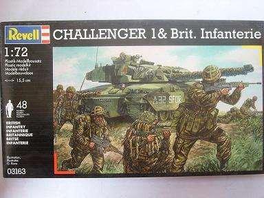 CHALLENGER 1 BRITISH INFANTERIE 3163 03163 1/72 REVELL MODELLPANZER MODELL PANZER