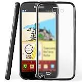 OneFlow Schutzhülle für Samsung Galaxy Note 10.1 Hülle Silikon Case aus 1,5mm dünnem TPU | Zubehör Cover zum Handy Schutz | Handyhülle Bumper Tasche Durchsichtig Transparent in Schwarz