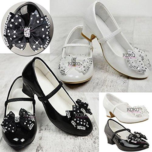 Fashion Thirsty Chaussures à Petit Talon- Strass/Noeud - pour Mariage/fête - bébé/Fille